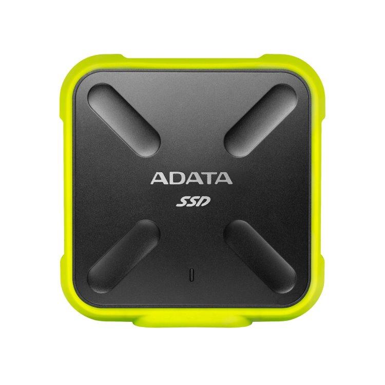 A-Data SSD SD700, 256GB, USB 3.2 - rýchlosť 440/430 MB/s (ASD700-256GU31-CYL), Yellow