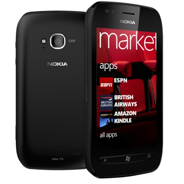 Akcia - Nokia Lumia 710, WindowsPhone 7.5, Black