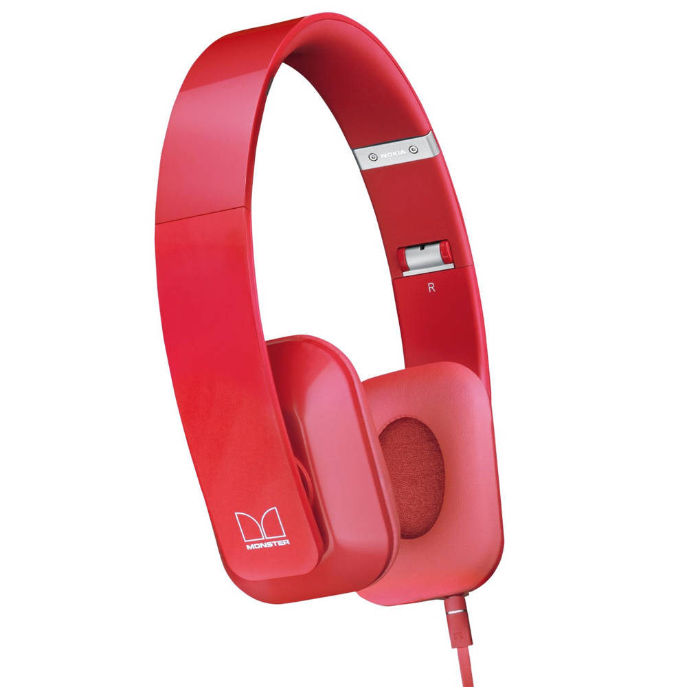 Akcia - Nokia WH-930, k�blov� Stereo Headset by Monster, �erven�