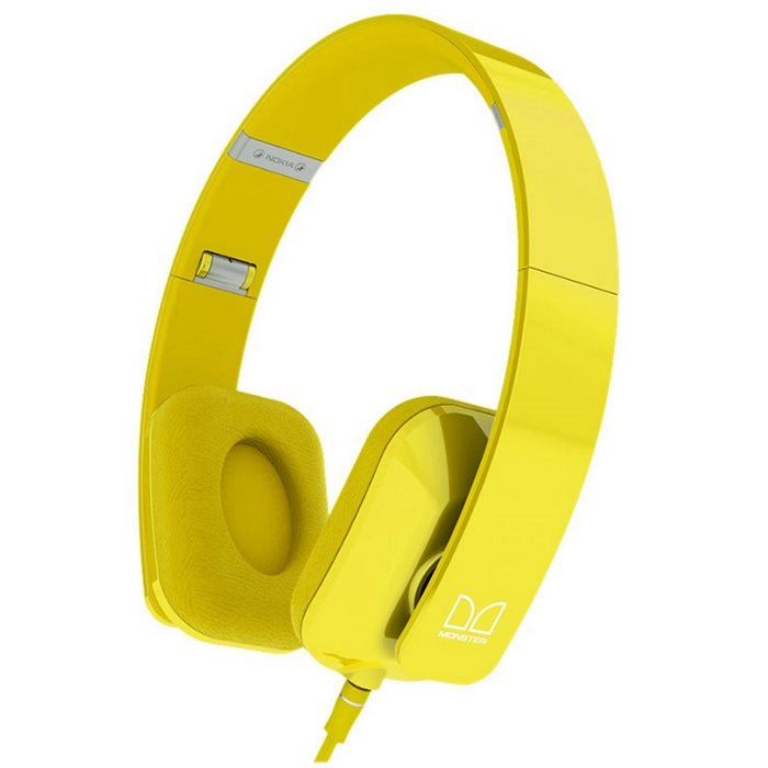 Akcia - Nokia WH-930, k�blov� Stereo Headset by Monster, Yellow