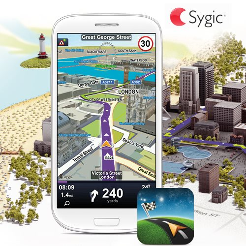 Akcia - Sygic GPS LifeTime Navigation - naviga�n� software pre Android - 45 kraj�n Eur�py, do�ivotn� aktualiz�cia