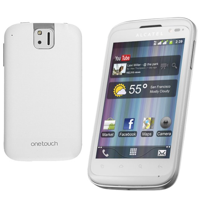 Alcatel One Touch 991D - Dual Sim, White - SK distrib�cia