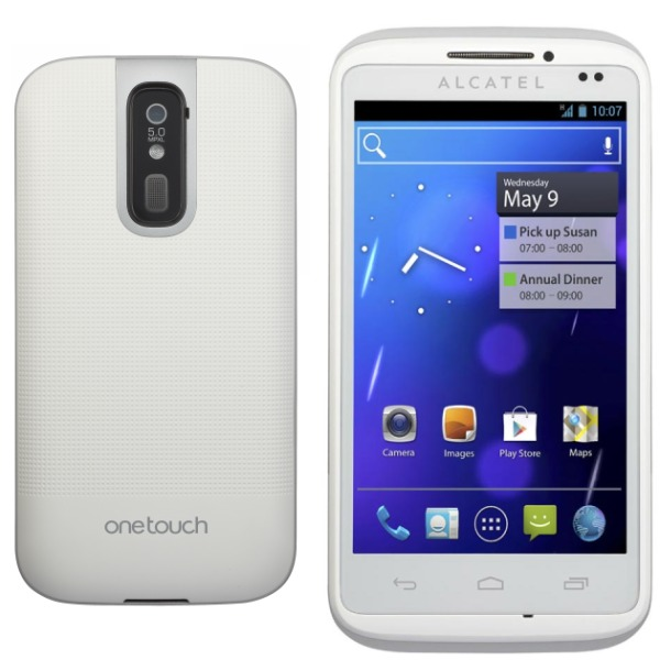 Alcatel One Touch 993D + Pam�ov� karta 2GB - Dual Sim, White - SK distrib�cia