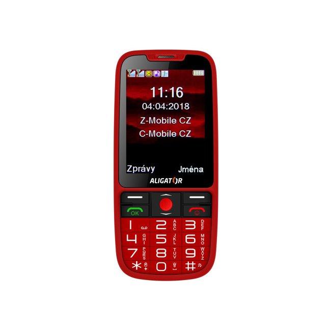 Aligator A890 GPS Senior, Dual SIM, červený