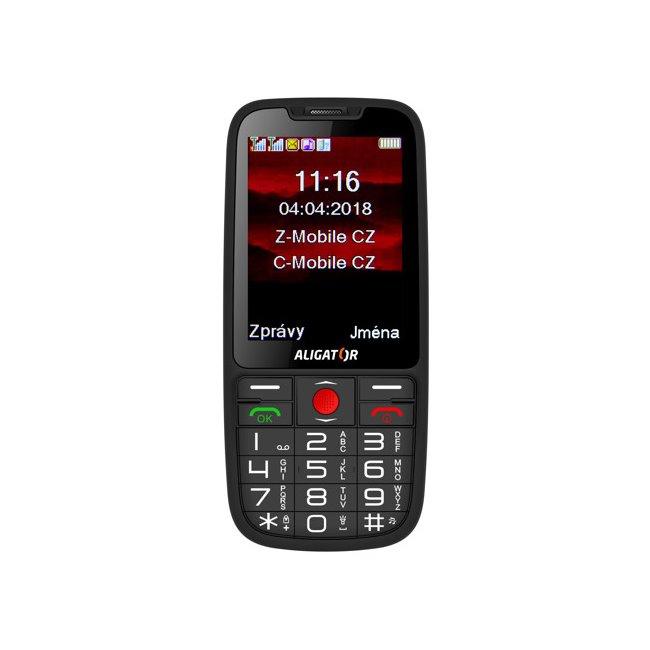 Aligator A890 GPS Senior, Dual SIM, čierny