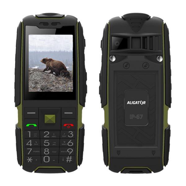 Aligator R20 eXtremo, Dual SIM, čierno-zelený