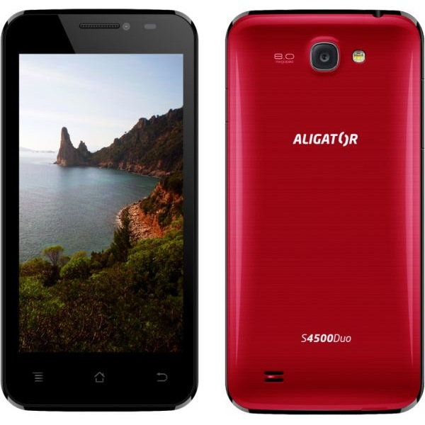Aligator S4500 DUO, Dual SIM, Red - SK distrib�cia