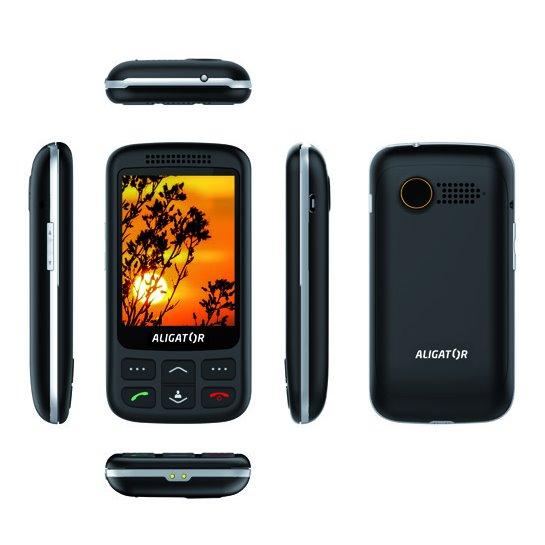 Aligator VS900 Senior, Dual SIM, čierno-strieborný + stolná nabíjačka