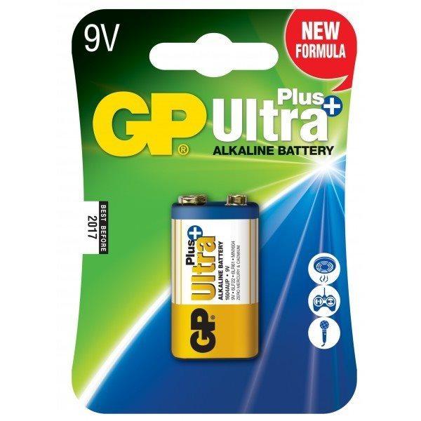 Alkalická batéria typ 9V (16LF22), GP Ultra Plus, 1 kus