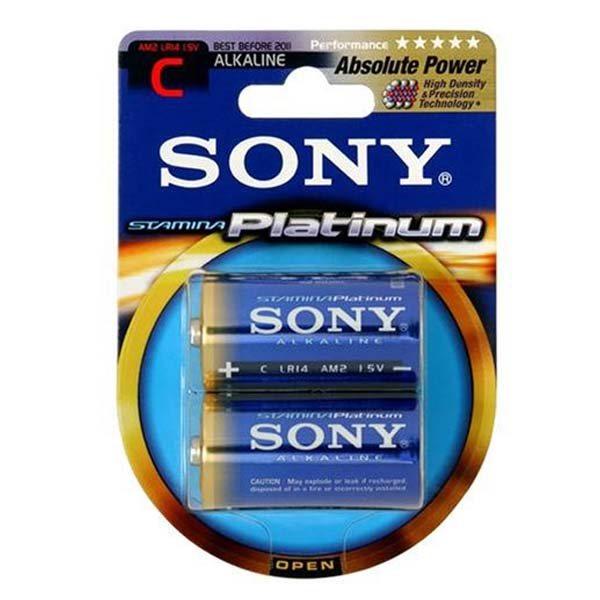 Alkalická batéria typ C (LR14), SONY AM2PTB2D Stamina Platinum, 2 kusy