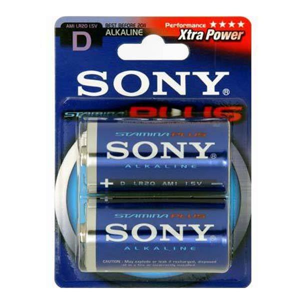 Alkalická batéria typ D (LR20), SONY AM1B2D Stamina Plus, 2 kusy