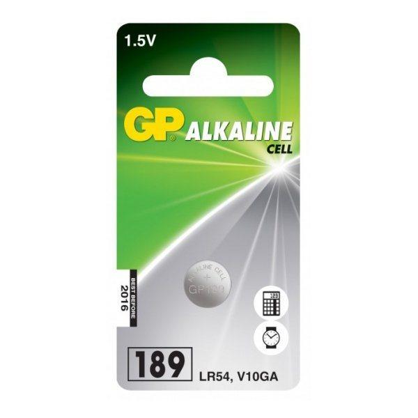 Alkalická gombíková batéria, GP typ LR54 (189), 1 kus