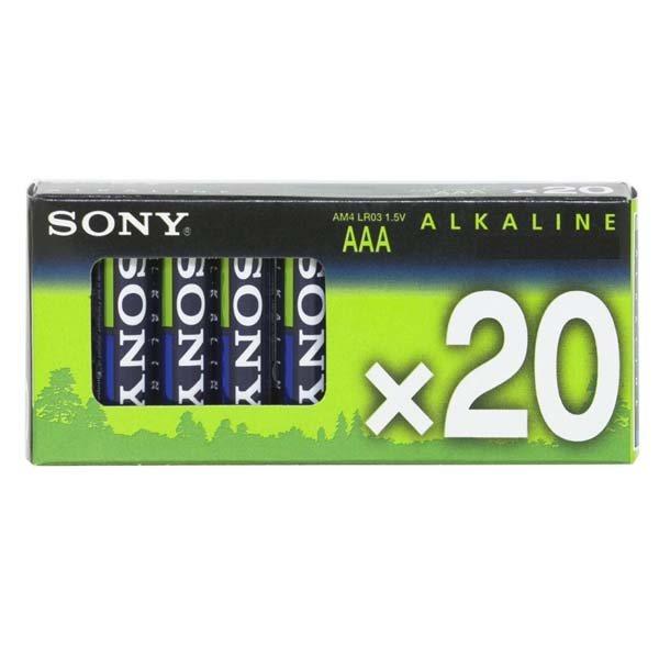 Alkalická mikrotužková batéria AAA(LR2), Sony AM4M20X Stamina Plus, 20 kusov