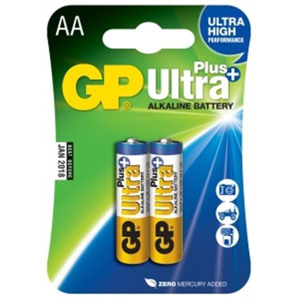 Alkalická tužková batéria AA, GP Ultra Plus, 2 kusy
