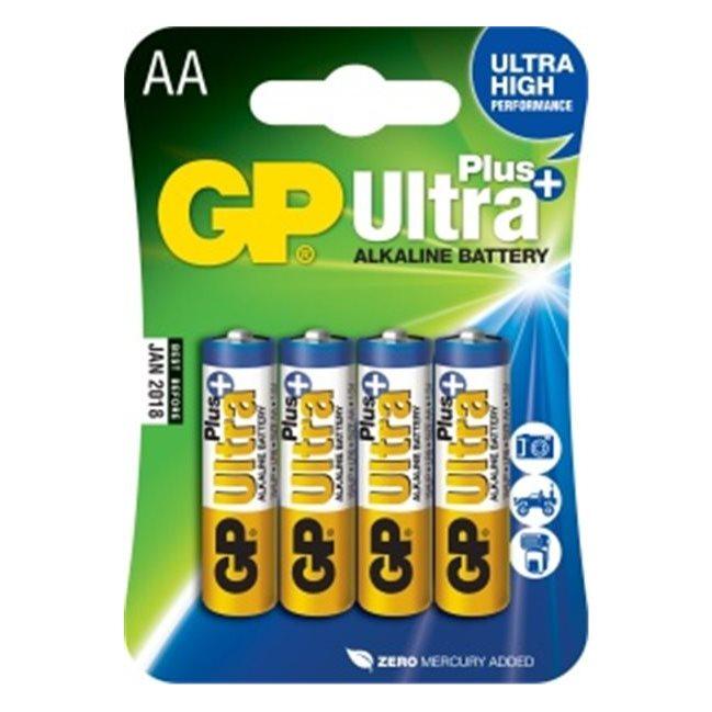 Alkalická tužková batéria AA, GP Ultra Plus, 4 kusy