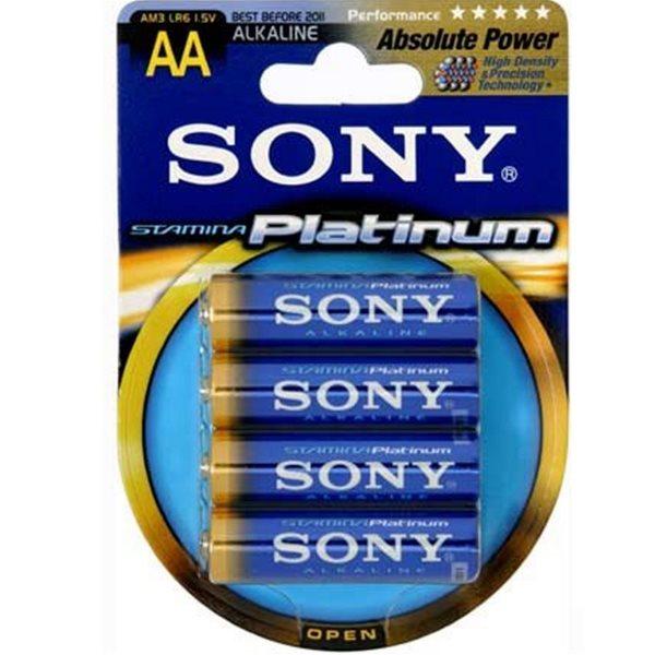 Alkalická tužková batéria AA(LR06), SONY AM3PTB4D Stamina Platinum, 4 kusy