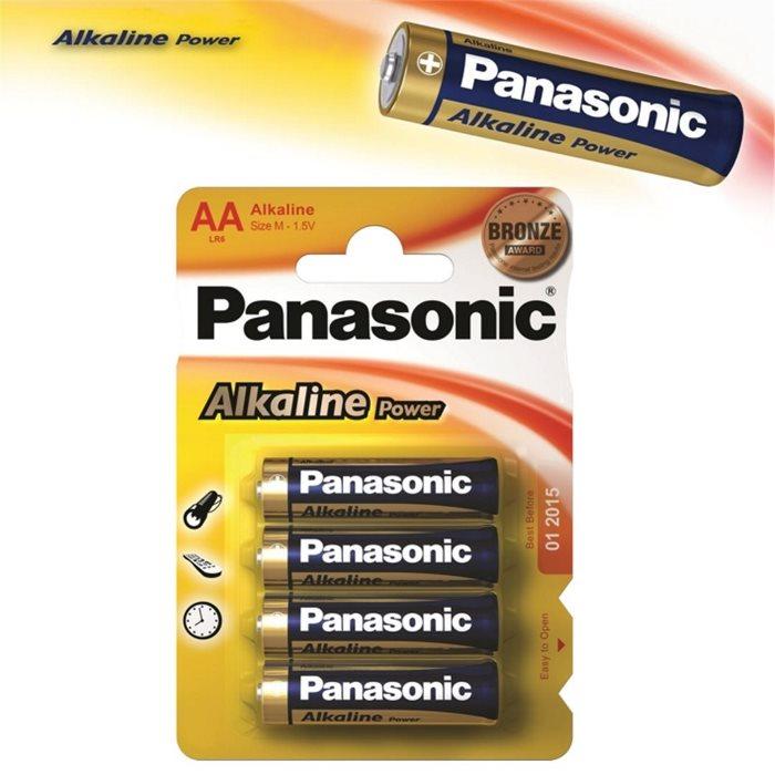 Alkalická tužková batéria AA(LR6), Panasonic Alkaline Power, 4 kusy