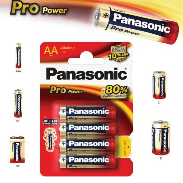 Alkalická tužková batéria AA, Panasonic Alkaline Power, 4 kusy