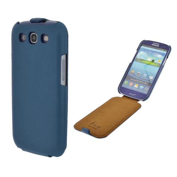 ANTONIO MIRO LEATHER CASE BLUE KLAP, SAMSUNG GALAXY S3
