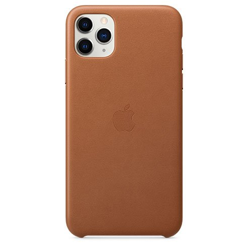 Apple iPhone 11 Pro Max Leather Case, saddle brown MX0D2ZM/A