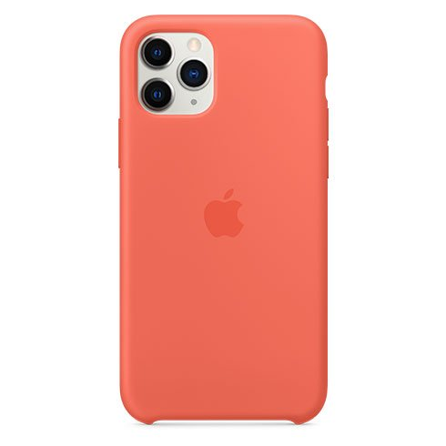 Apple iPhone 11 Pro Silicone Case, clementine (orange) MWYQ2ZM/A