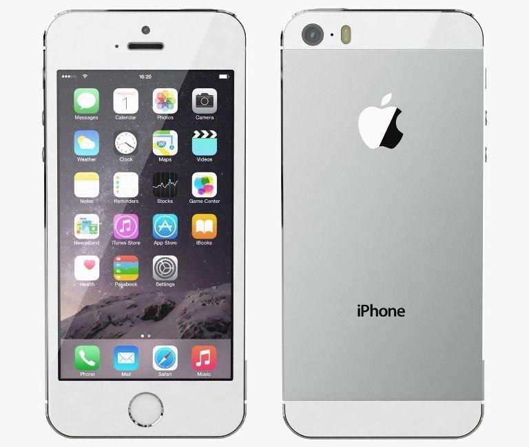 56b0addd7 Apple iPhone 5S, 16GB   Silver, Trieda C - použité, záruka 12 mesiacov