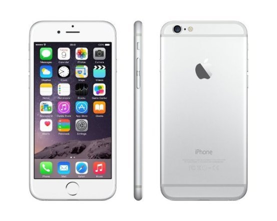 Apple iPhone 6, 64GB | NEFUNGUJE TOUCH ID | Silver, Trieda C - použité, záruka 12 mesiacov