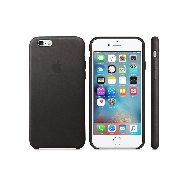 Apple iPhone 6S Kožené puzdro (Black) MKXW2ZM/A
