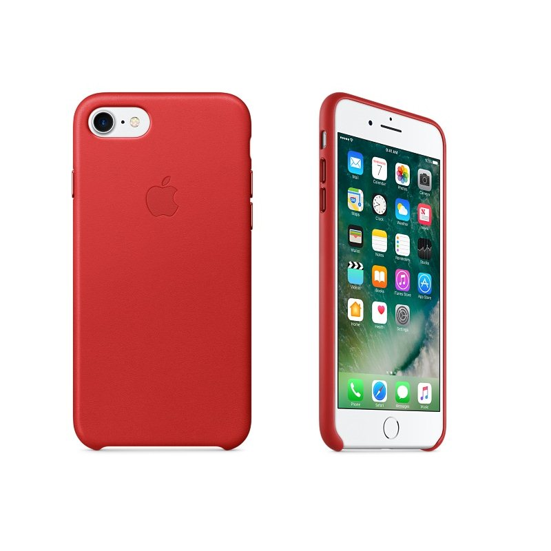 Apple iPhone 7 a iPhone 8 Kožené puzdro (Red) MMY62ZM/A