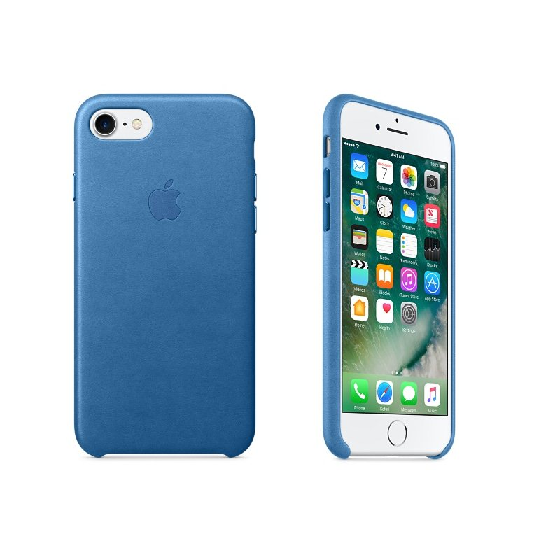 Apple iPhone 7 a iPhone 8 Kožené puzdro (Sea Blue) MMY42ZM/A