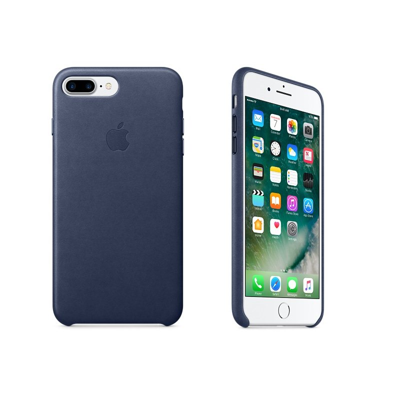 Apple iPhone 7 Plus a iPhone 8 Plus Kožené puzdro (Midnight Blue) MMYG2ZM/A