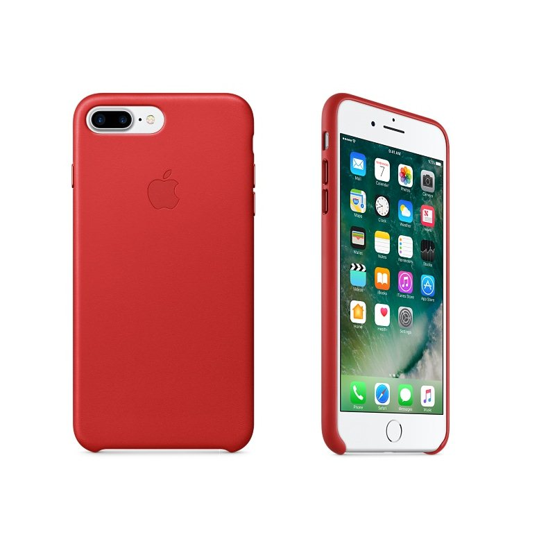 Apple iPhone 7 Plus a iPhone 8 Plus Kožené puzdro (Red) MMYK2ZM/A