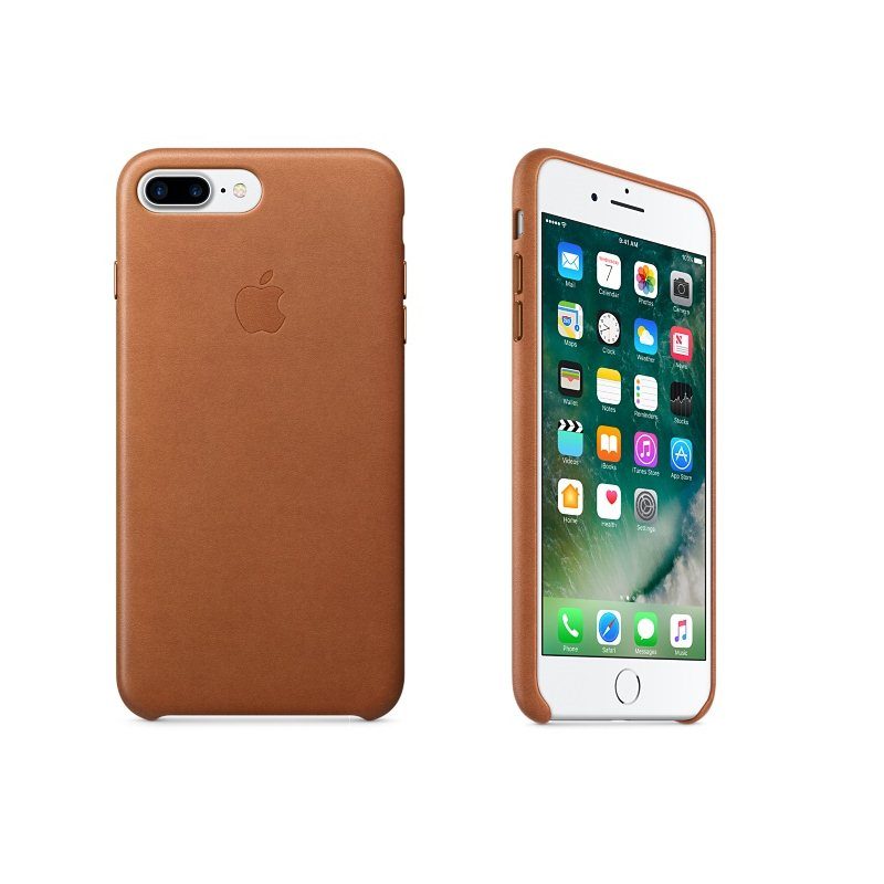 Apple iPhone 7 Plus a iPhone 8 Plus Kožené puzdro (Saddle Brown) MMYF2ZM/A
