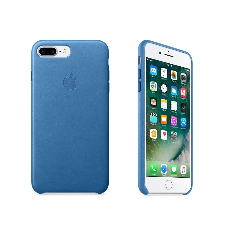 Apple iPhone 7 Plus a iPhone 8 Plus Kožené puzdro (Sea Blue) MMYH2ZM/A