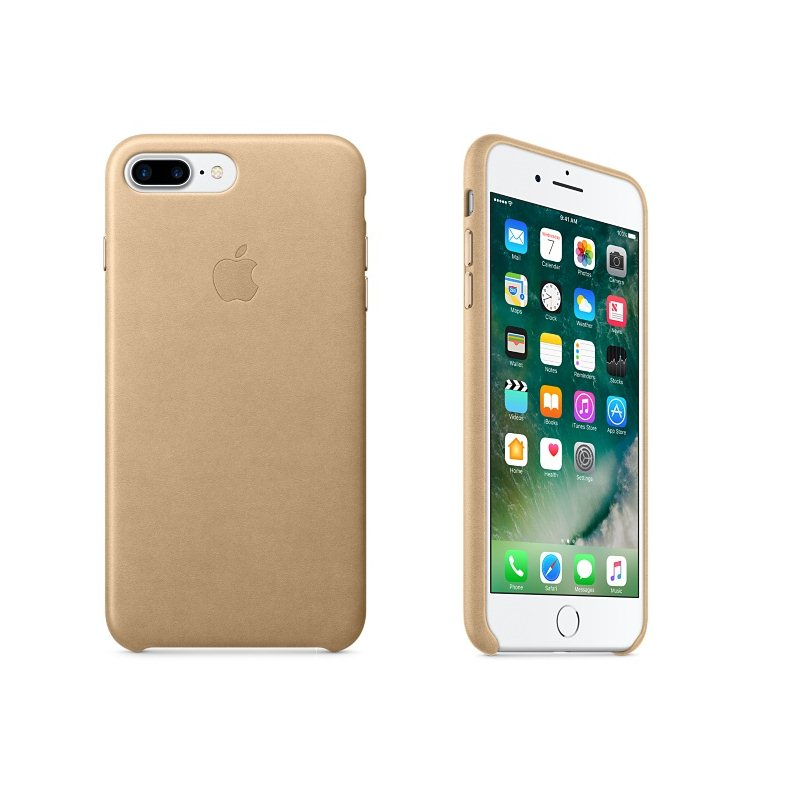 Apple iPhone 7 Plus a iPhone 8 Plus Kožené puzdro (Tan) MMYL2ZM A a737ae24af3