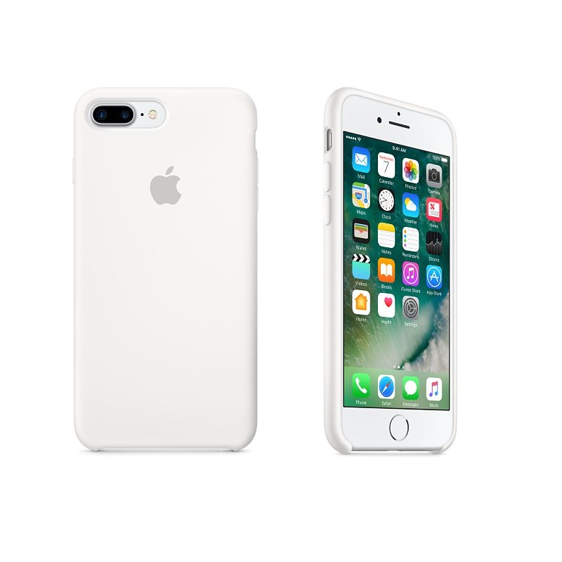 Apple iPhone 7 Plus a iPhone 8 Plus Silikónové puzdro (White) MMQT2ZM A 31be2981b9d