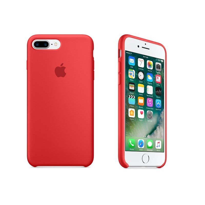 Apple iPhone 7 Plus Silikónové puzdro (Red) MMQV2ZM/A