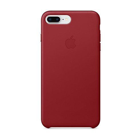 Apple iPhone 8 Plus / 7 Plus Leather Case - (PRODUCT)RED