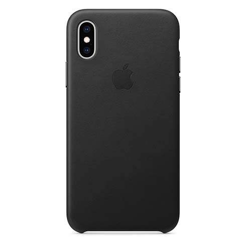 Apple iPhone XS Leather Case - Black MRWM2ZM/A
