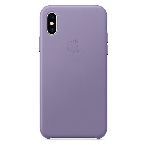 Apple iPhone XS Leather Case - Lilac MVFR2ZM/A