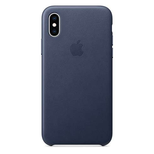 Apple iPhone XS Leather Case - Midnight Blue MRWN2ZM/A