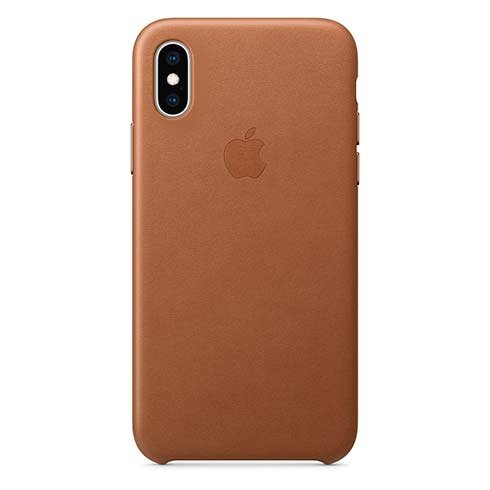 Apple iPhone XS Leather Case - Saddle Brown MRWP2ZM/A