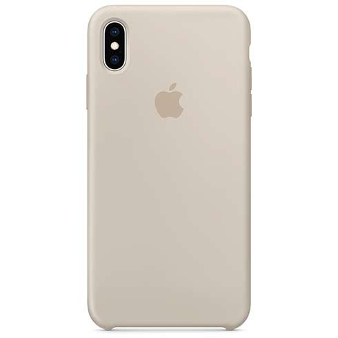 Apple iPhone XS Max Silicone Case - Stone