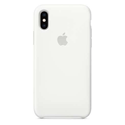 Apple iPhone XS Silicone Case - White