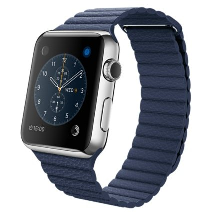 Apple Watch, 42mm, Blue Leather loop + Doprava Zadarmo