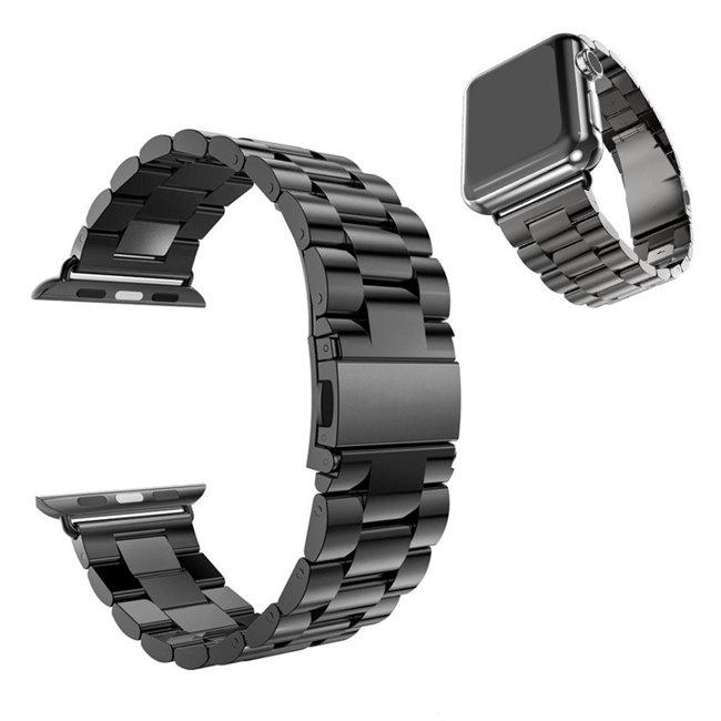 Apple Watch 42/44mm Metal band náramok, čierny