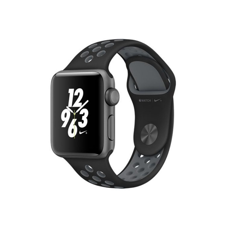 Apple Watch Nike+, 38mm Space Grey Aluminium Case with Black/Cool Grey Nike Sport Band MNYX2CN/A