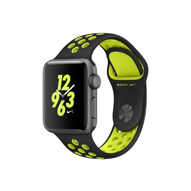 Apple Watch Nike+, 42mm Space Grey Aluminium Case with Black/Volt Nike Sport Band MP0A2CN/A