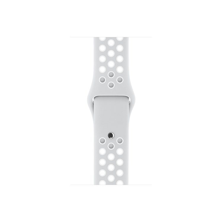 Apple Watch Nike Sport Band 38mm pre Apple Watch, Pure Platinum/White (MQ2J2ZM/A)