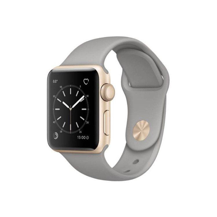 Apple Watch Series 1, 38mm Gold Aluminium Case with Concrete Sport Band MNNJ2CN/A